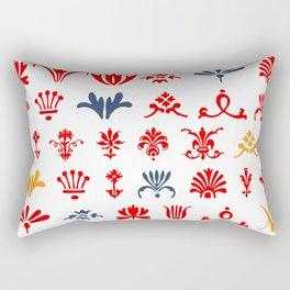 Adobe Caslon Ornament Art Rectangular Pillow