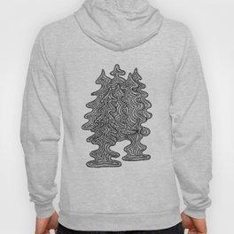 Abstract Xmas Trees Hoody