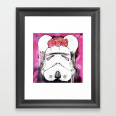 MINI TROOPER — On Pink Framed Art Print