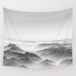 Balloon ride over the alps 2 Wall Tapestry