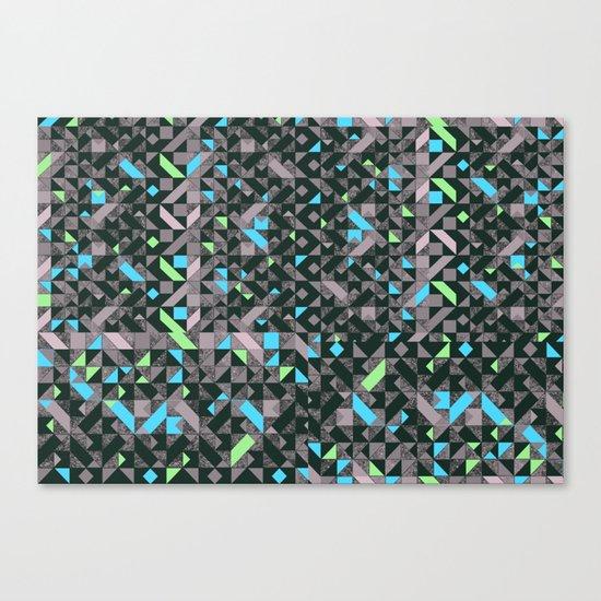 GEOMETRIC GREYS AND BLUES  Canvas Print