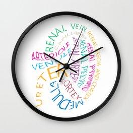 Kidney T Shirt Anatomical Kidney Shirt Wall Clock
