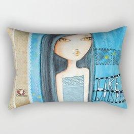Like a whisper Rectangular Pillow