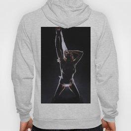 8378-LP Powerful Woman in Kneeling in Hero Pose Goddess Energy of Lif Hoody
