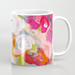 Dream flowers in pink rose floral abstract art Coffee Mug