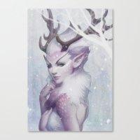 artgerm Canvas Prints featuring Reindeer Princess by Artgerm™