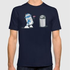Robot Crush Navy MEDIUM Mens Fitted Tee