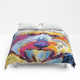 Goldendoodle or Labradoodle Pop Art Dog Portrait Comforters