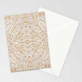 Clandestine Orange White Stationery Cards