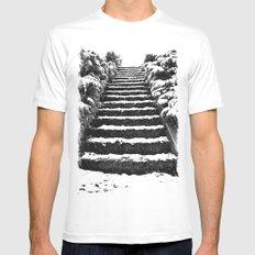 Winter stairway Mens Fitted Tee White MEDIUM