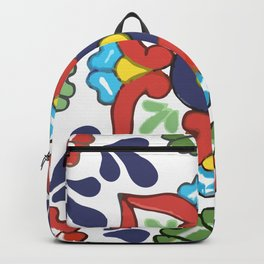 Talavera Mexican Green Floral Backpack