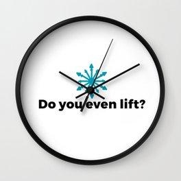 Do you even lift? Wall Clock