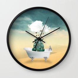 SHOWER CURTAIN Wall Clock