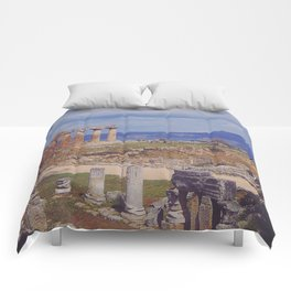 Ancient Corinth Comforters