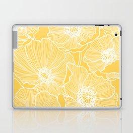Sunshine Yellow Poppies Laptop & iPad Skin