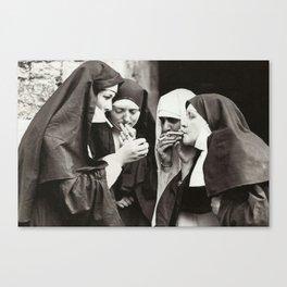 Nuns Smoking Canvas Print