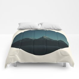 Magic Mountains Against Night Sky Comforters