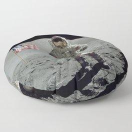 Apollo 17 - Last Man On The Moon Floor Pillow