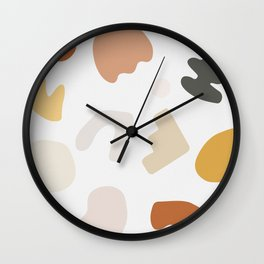 Abstract Shape Series - Autumn Color Study Wall Clock