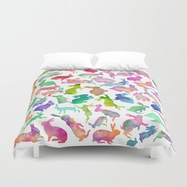 Watercolour Bunnies Duvet Cover