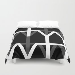 Hana and Wind logo's collection version black Duvet Cover