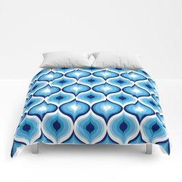 Evil Eye Blue Pattern Comforters