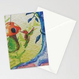 Hummingbird and the Mushroom Room Stationery Cards