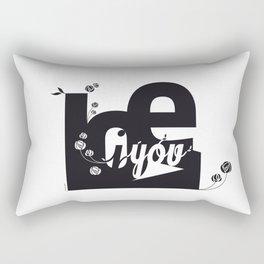 I Love You 3 Rectangular Pillow
