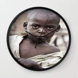 African Boy Wall Clock