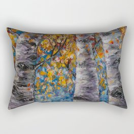 Aspen Trees by OLena Art Rectangular Pillow
