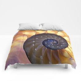 Macro Seashell Comforters
