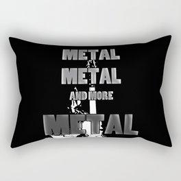 Metal, Metal and More Metal Rectangular Pillow