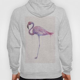 """Watercolor Painting of Picture """"Flamingo"""" Hoody"""