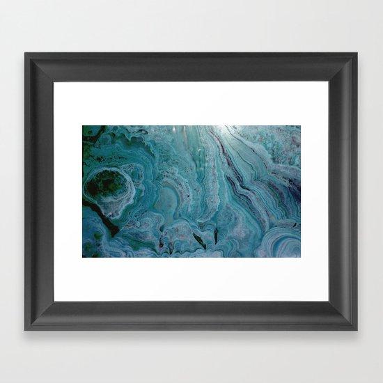 Blue stalactite Framed Art Print