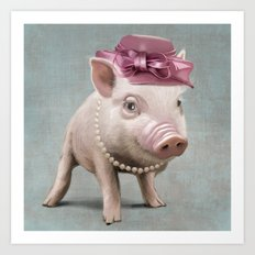 Miss Piggy Art Print