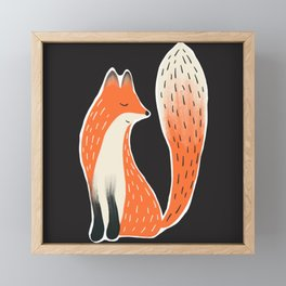 Folk Fox Framed Mini Art Print