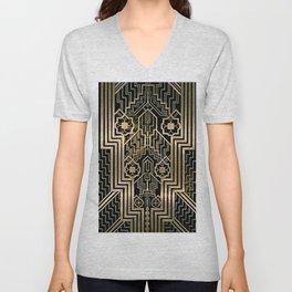 Art Nouveau Metallic design Unisex V-Neck