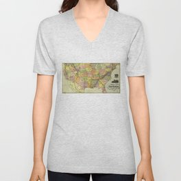 Great Kennesaw Route Map (1890) Unisex V-Neck