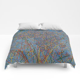 Africa : Abstract drip painting in color Comforters