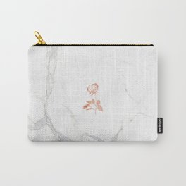 Forever Petal (White Rose) Carry-All Pouch
