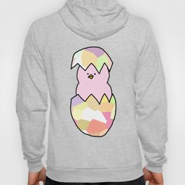 Cute Pink Baby Chick - a hatching chicken for spring and Easter Hoody
