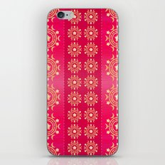Red flowers pattern iPhone & iPod Skin