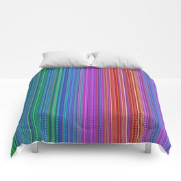 Abstract rainbow dots and lines Comforters