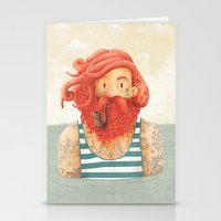 hipster Stationery Cards featuring Octopus by Seaside Spirit