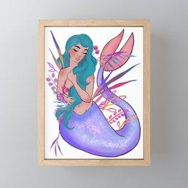 Mermaid 001 Framed Mini Art Print