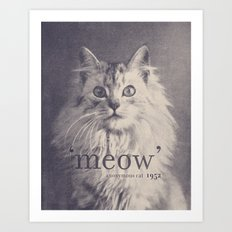 Famous Quotes #2 (anonymous cat, 1952) Art Print