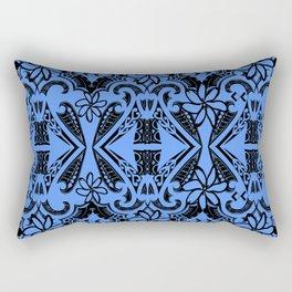 True Blue Tribal Rectangular Pillow