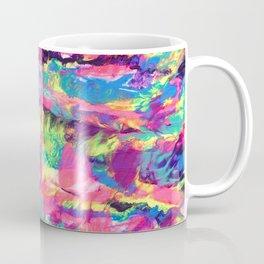 Rainbow Abstract Rorschach Style Painting Coffee Mug
