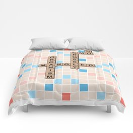 GMO-NO! Grossly Modified Organism [SCRABBLE Board] Comforters