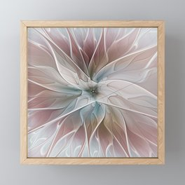 A Floral Friend, Abstract Fractal Art Framed Mini Art Print